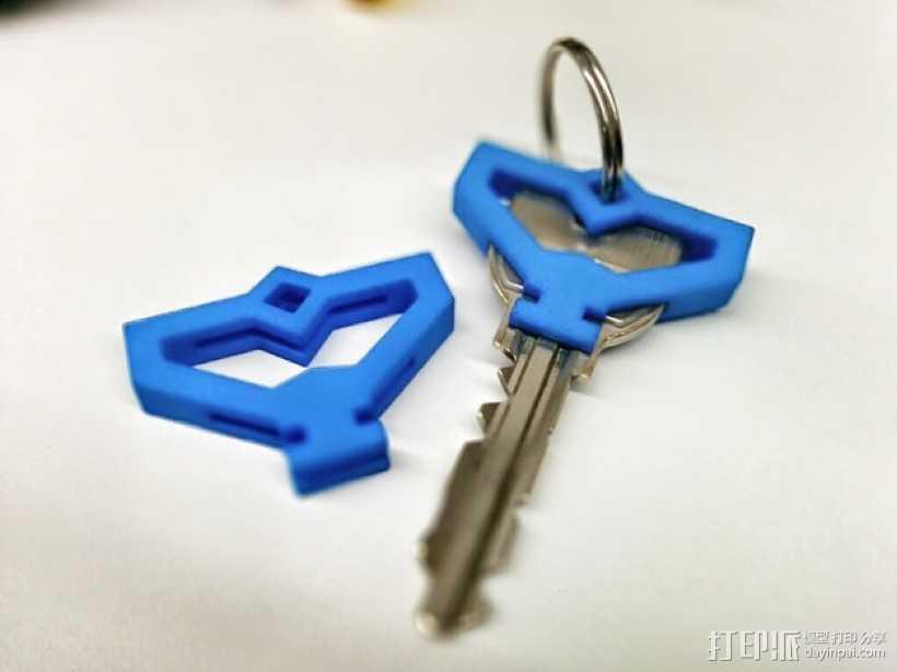 游戏《Ingress》钥匙套 3D打印模型渲染图