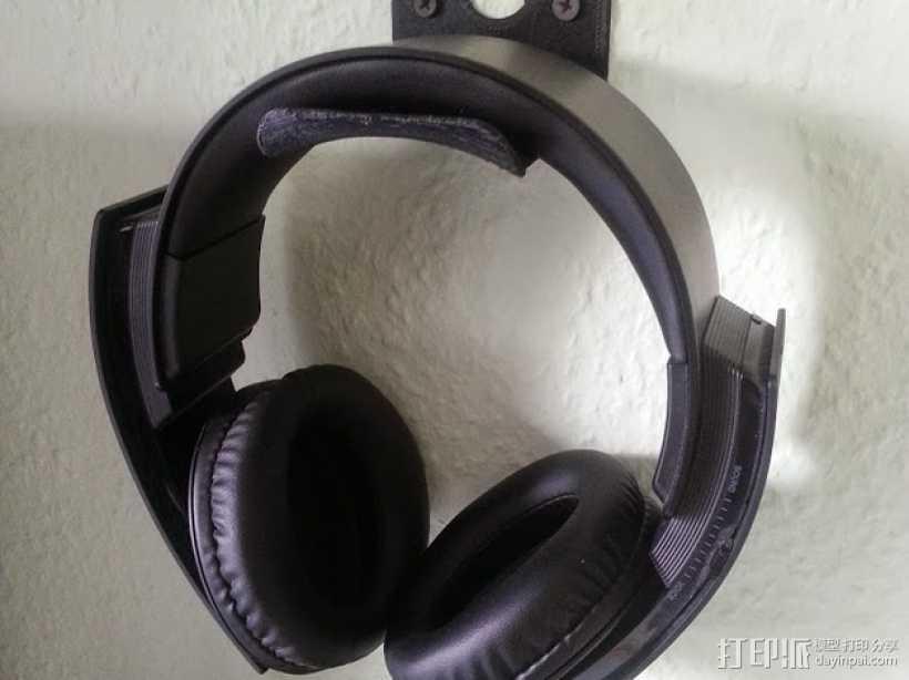 壁挂式耳机架 3D打印模型渲染图