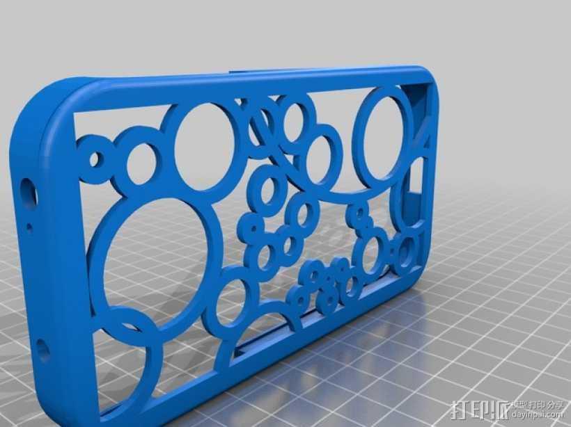 三星Galaxy S4手机壳 3D打印模型渲染图