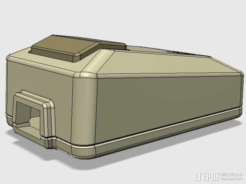 苹果电脑鼠标 3D打印模型渲染图