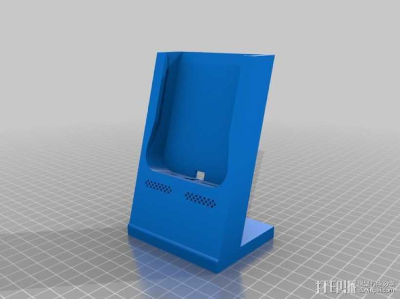 iPhone 5/5s手机充电座  3D打印模型渲染图