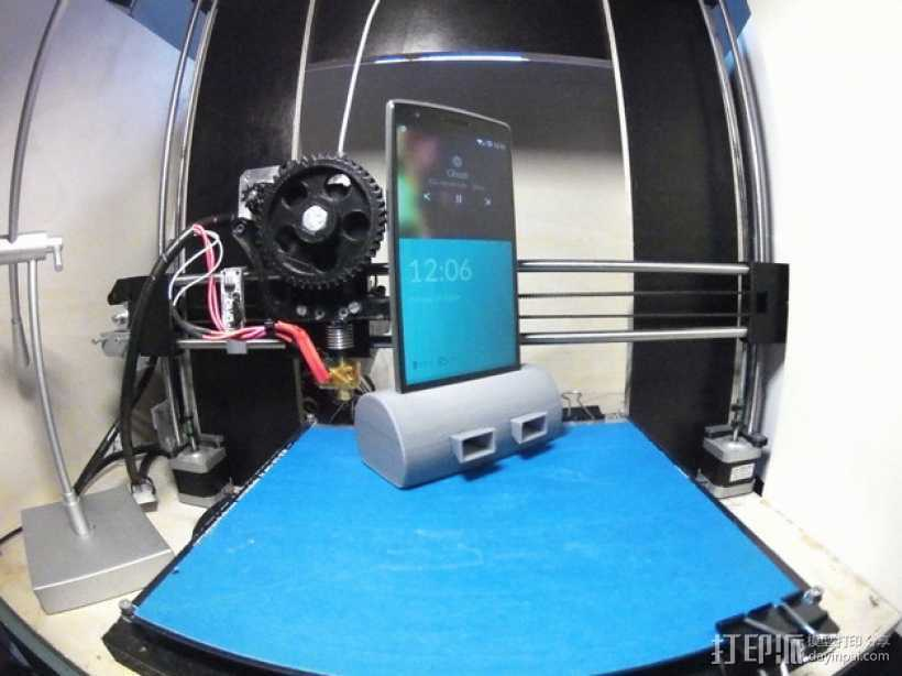 带USB插槽的手机支座  3D打印模型渲染图
