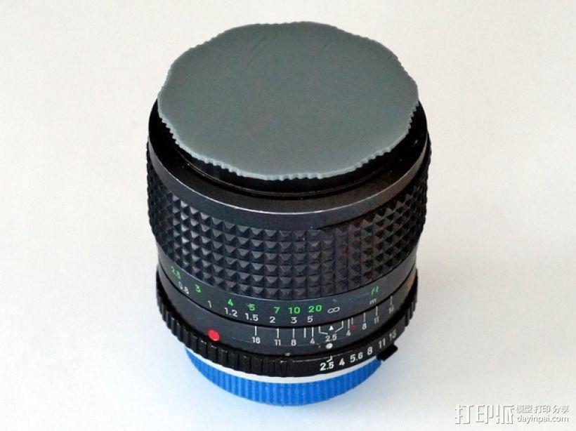 单反相机镜头盖 3D打印模型渲染图