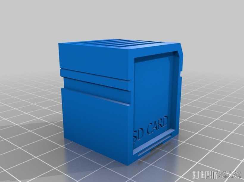 SD 卡收纳槽 收纳盒 3D打印模型渲染图