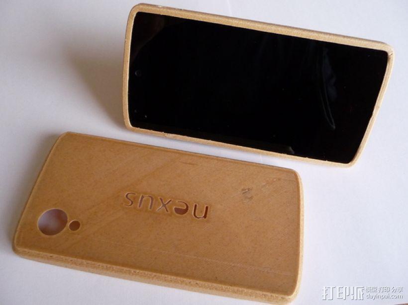 Nexus 5手机木质外壳 3D打印模型渲染图