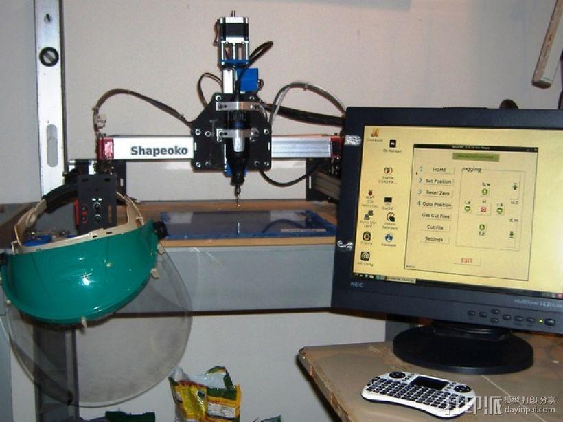 树莓派工作台 保护外壳 3D打印模型渲染图