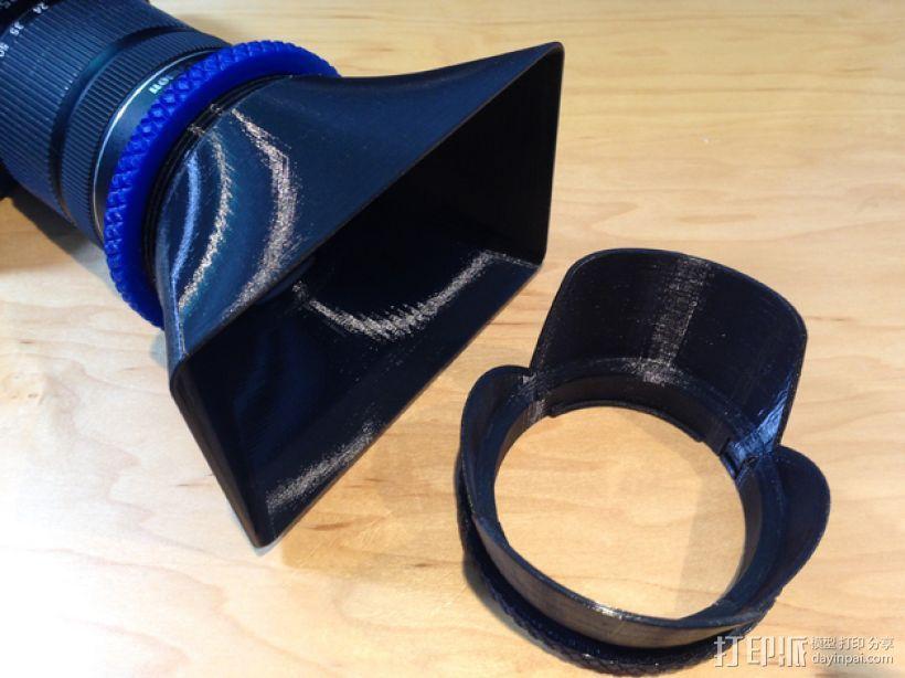 相机镜头遮光罩 3D打印模型渲染图