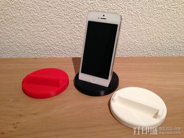 Iphone 5/5S 手机架 3D打印模型渲染图