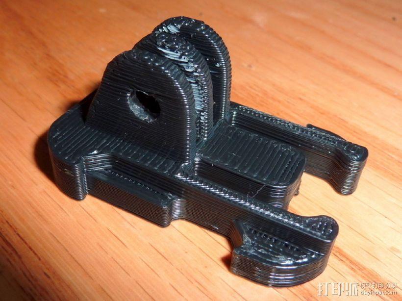 GoProHD相机支撑架 3D打印模型渲染图