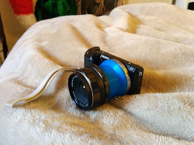 Sony NEX 索尼相机镜头适配器 3D打印模型渲染图