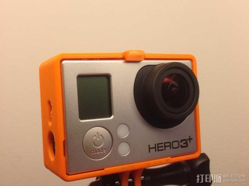 GoPro Hero 3相机保护套 3D打印模型渲染图