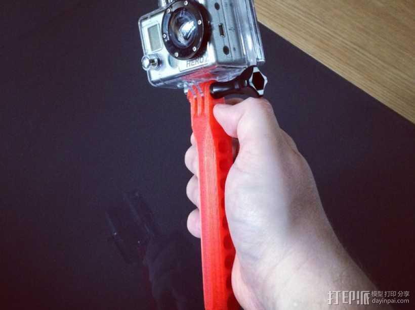 GoPro相机 手持式自拍杆 3D打印模型渲染图