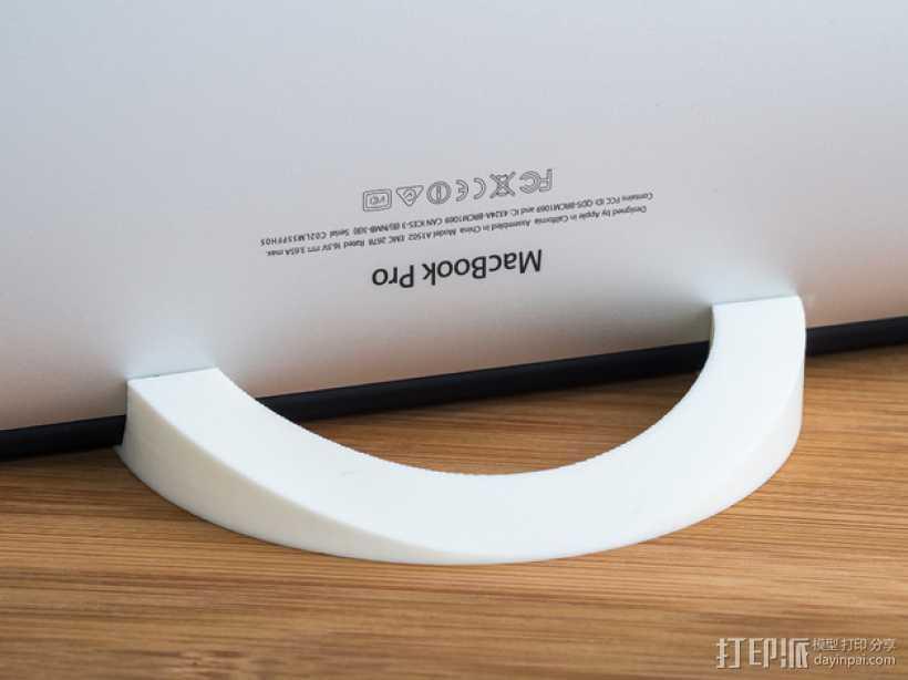 Macbook Pro电脑立式支架 3D打印模型渲染图