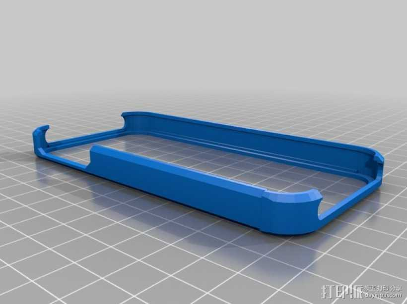 iPhone 5/5s手机壳  3D打印模型渲染图
