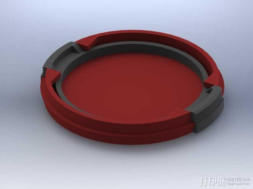 SLR Camera相机镜头盖 3D打印模型渲染图