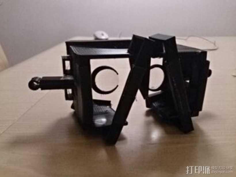 谷歌纸盒 虚拟现实护目镜 3D打印模型渲染图