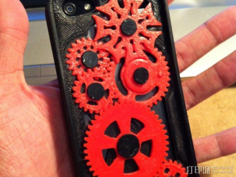 iPhone 5手机齿轮保护壳 3D打印模型渲染图