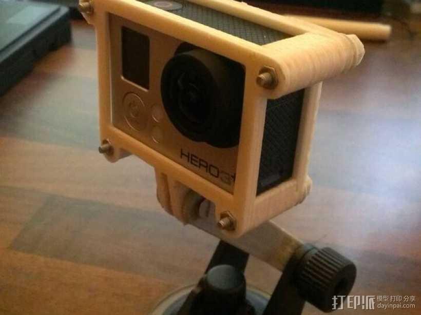 GoPro Hero3/Hero3+ 相机外壳 3D打印模型渲染图