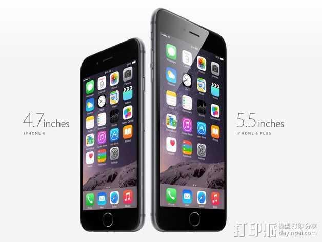 iPhone 6手机 3D打印模型渲染图