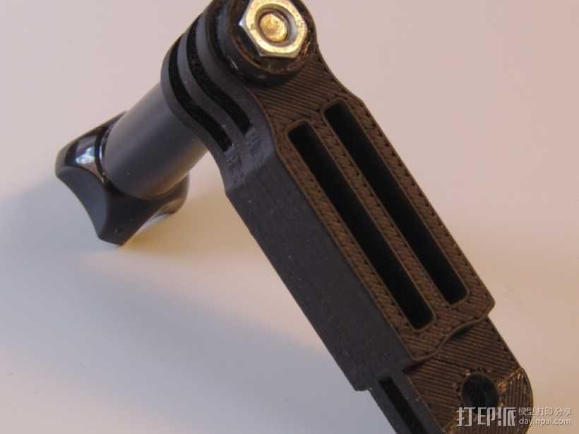 GoPro相机延长架 3D打印模型渲染图