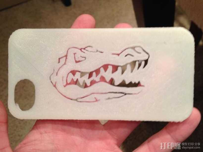 弗罗里达州大学鳄鱼队iPhone5手机外壳 3D打印模型渲染图