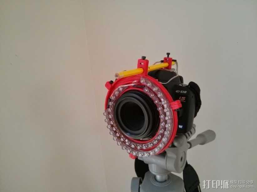 微距摄影机的环形灯 3D打印模型渲染图