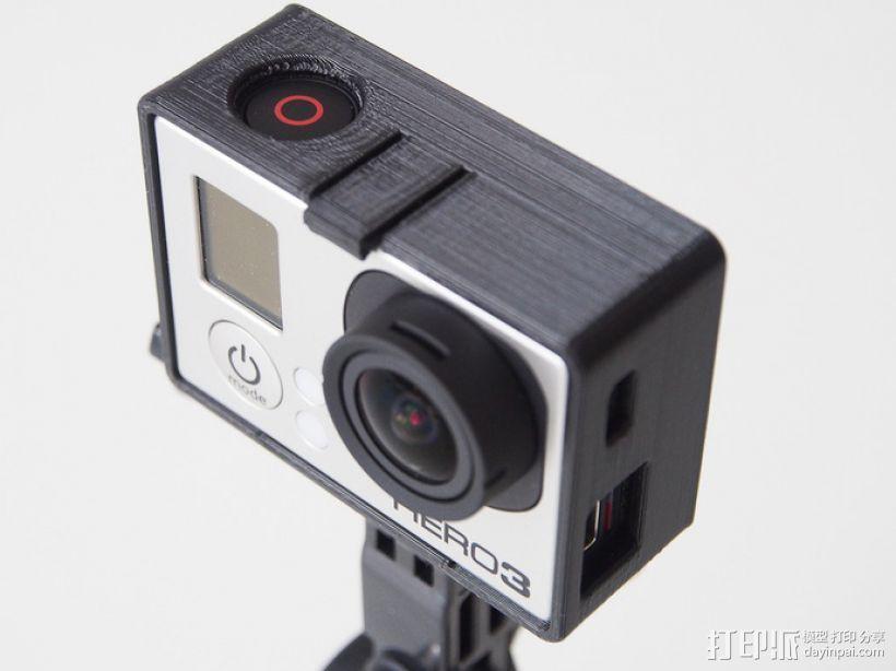 GoPro Hero3 相机支架保护外壳 3D打印模型渲染图