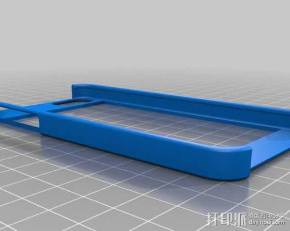 iPhone 5 手机保护框 边框保护壳 3D打印模型渲染图