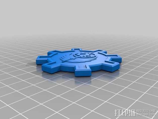 钢铁兄弟会 徽章  3D打印模型渲染图