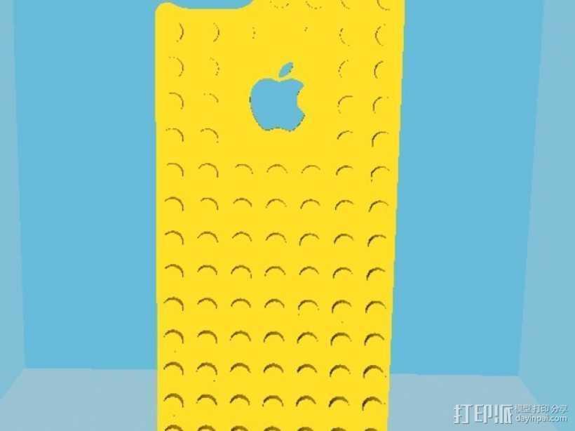 乐高iPhone5手机外壳 3D打印模型渲染图