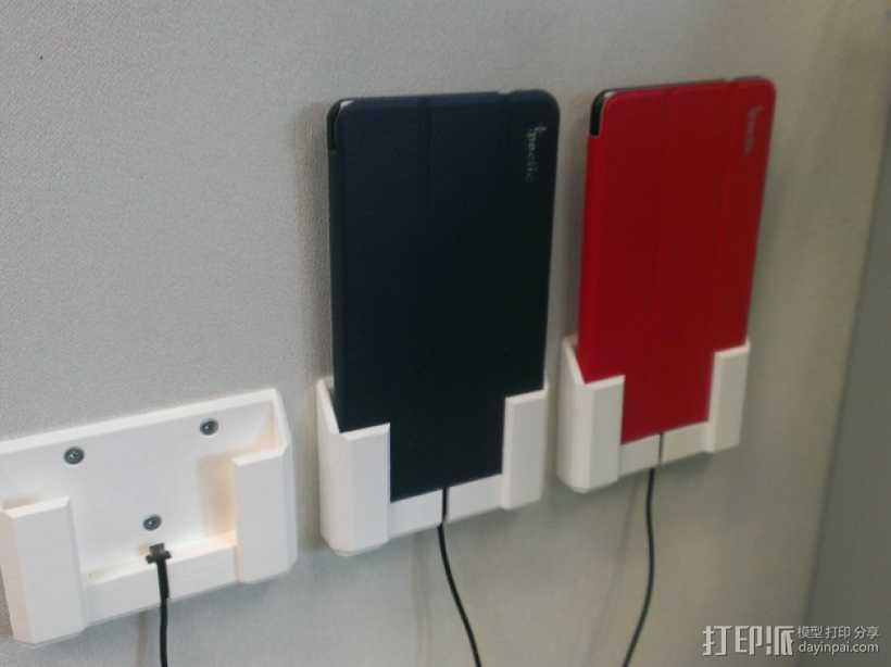 壁挂式Nexus 7平板电脑支架 3D打印模型渲染图