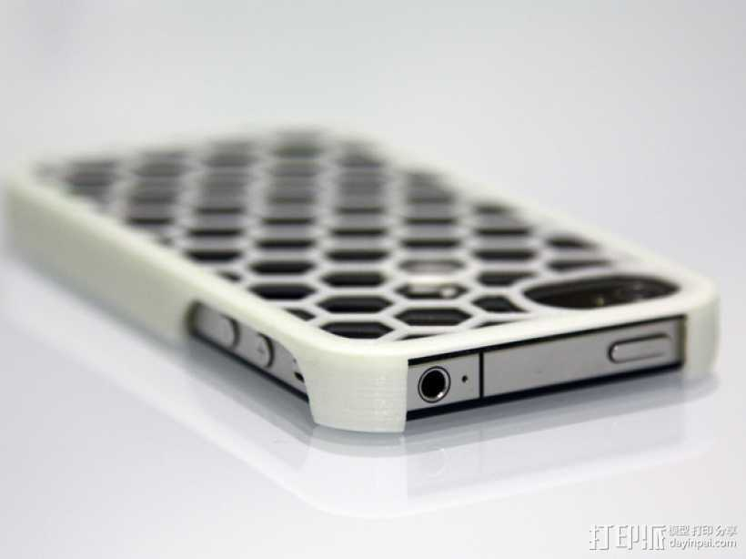 蜂巢iPhone手机壳 3D打印模型渲染图