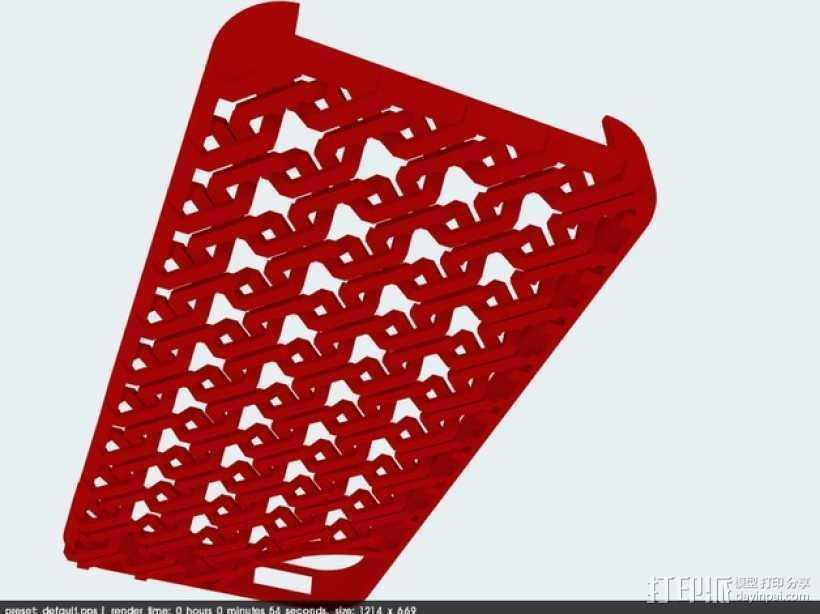 锁链iPhone5手机外壳 3D打印模型渲染图