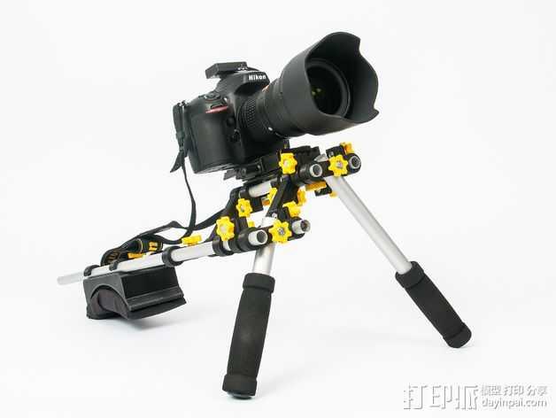 摄像机/照相机肩架 3D打印模型渲染图