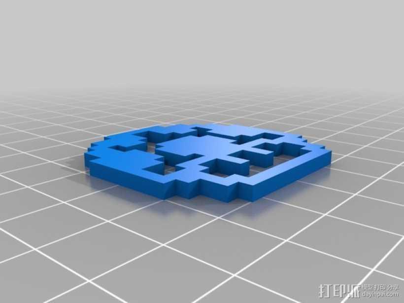 马里奥蘑菇 3D打印模型渲染图