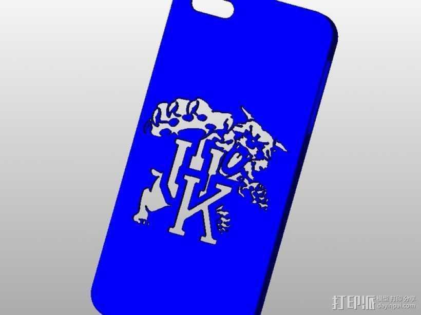 肯塔基大学标志Iphone 5手机保护壳 3D打印模型渲染图