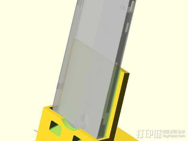 Nexus 5手机支撑架 3D打印模型渲染图