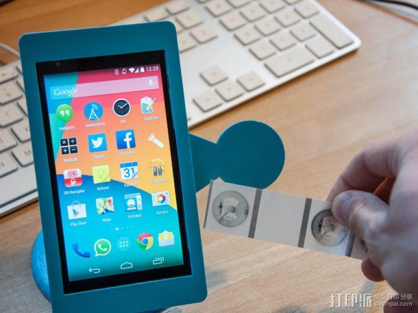 Nexus 5手机架 3D打印模型渲染图