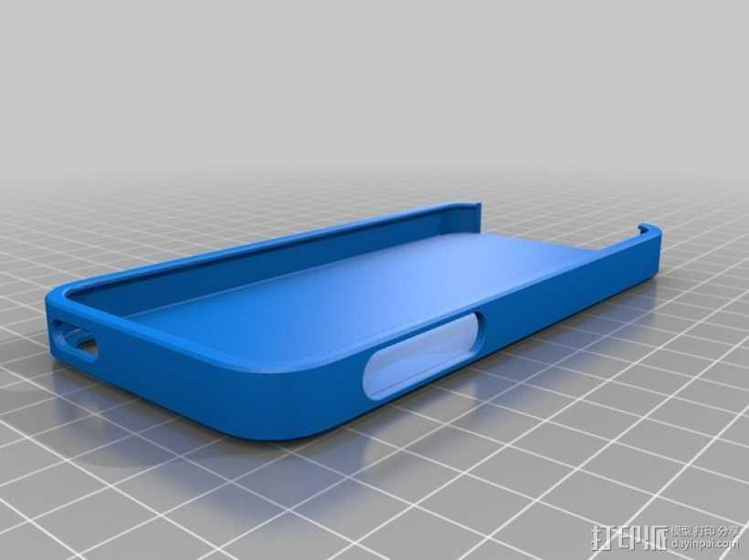 iPhone 5s 手机壳 3D打印模型渲染图