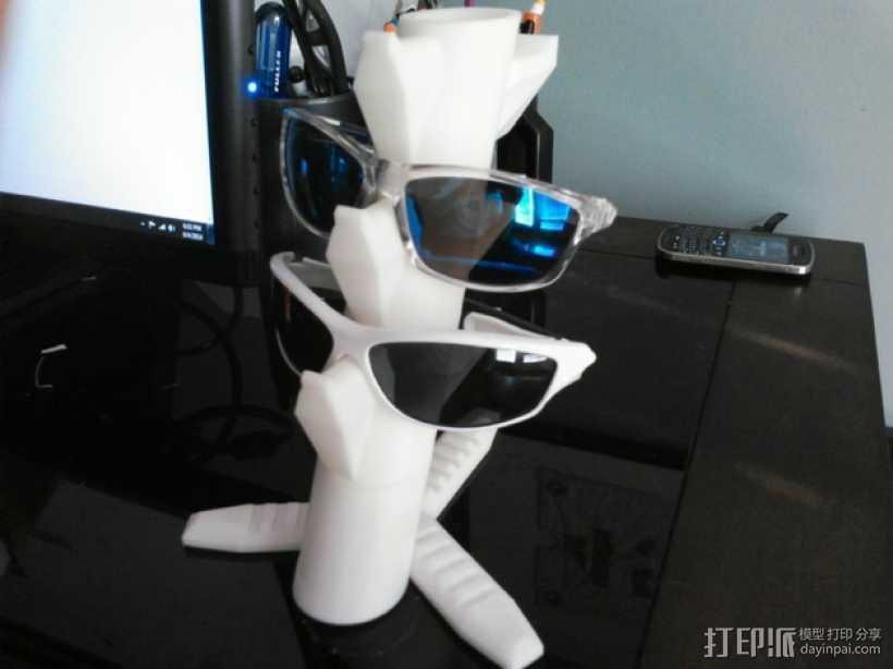 眼镜架 3D打印模型渲染图