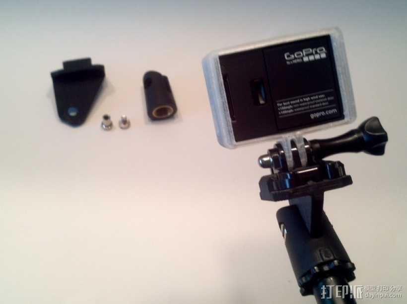 GoPro相机支撑架 3D打印模型渲染图