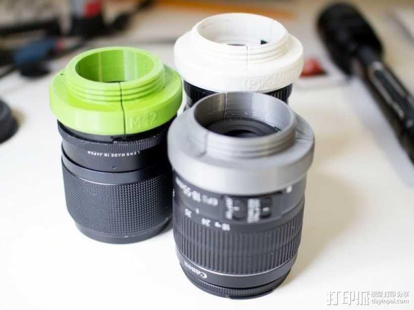 通用型的镜头适配器 3D打印模型渲染图