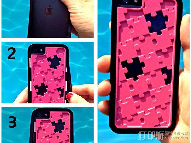 iPhone 5/5S 手机保护壳 3D打印模型渲染图