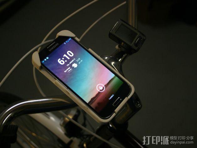 三星Galaxy S4手机支架 3D打印模型渲染图