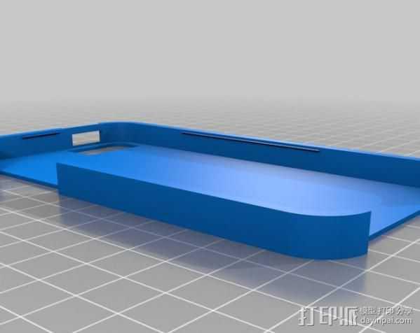iPhone 5手机壳 3D打印模型渲染图
