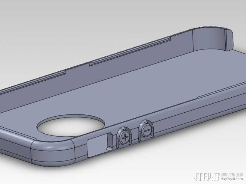 iPhone 5手机外壳 3D打印模型渲染图