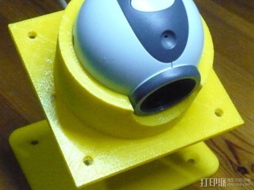 眼形摄像头底座 3D打印模型渲染图