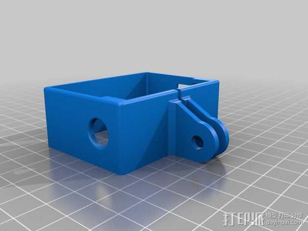 GoPro相机外框保护壳 3D打印模型渲染图