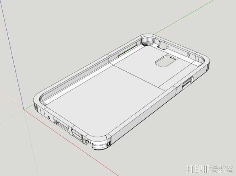 三星Galaxy Note 3手机外壳 3D打印模型渲染图