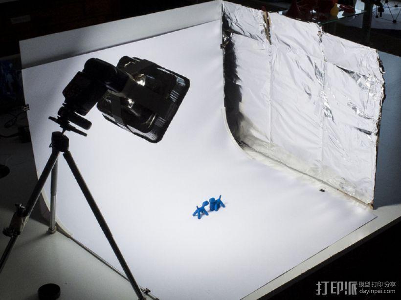 摄像机挡板底座 3D打印模型渲染图